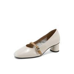 Belle/百丽玛丽珍鞋2019春商场同款新漆牛皮革粗跟女单鞋BTN14AQ9