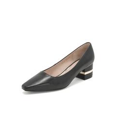 Belle/百丽单鞋2019年春季新商场款同款羊皮革浅口女皮鞋T4D1DAQ9