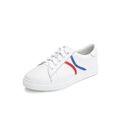 Belle/百丽彩色运动风小白鞋2019春商场同款新牛皮革平底女休闲鞋T5H1DAM9