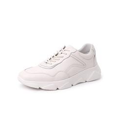 Belle/百丽青春运动风休闲鞋2019年春新商场同款牛皮革男小白鞋B1X19AM9