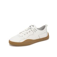 Belle/百丽青春小白鞋2019年春新商场同款牛皮革男休闲鞋5YX01AM9