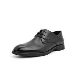 Belle/百丽婚鞋2019年春新商场同款商务正?#33453;?#30382;革男皮鞋5YP01AM9
