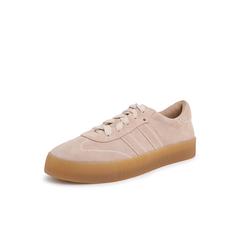 Belle/百丽复古板鞋2019春商场同款新摔纹牛皮革女休闲鞋BW620AM9