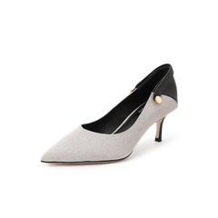 Belle/百丽高跟单鞋2019春新羊皮革/格利特OL通勤女鞋11572AQ9