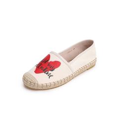 Belle/百丽渔夫鞋2019春新商场同款纺织品/羊皮革女休闲单鞋BX321AM9