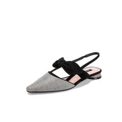 Belle/百丽蝴蝶结凉鞋2019夏季新商场同款格利特/羊绒皮革女鞋T6K1DBH9
