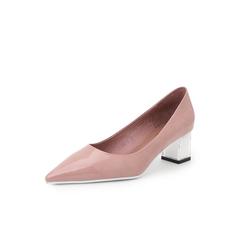 Belle/百丽尖头浅口鞋2019年春季新商场同款漆牛皮革女皮鞋T5Z1DAQ9