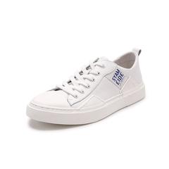 Belle/百丽青春运动风小白鞋2019?#30007;?#27454;人造革男休闲鞋18033BM9