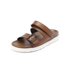 Belle/百丽休闲拖鞋2019?#30007;?#21697;商场同款牛皮革男皮凉鞋97602BL9