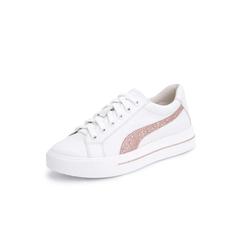 Belle/百丽青春风小白鞋2019春新商场同款牛皮革女休闲鞋BURE9AM9