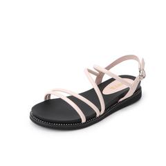 Belle/百丽2019夏季新款羊皮革/人造革女皮凉鞋02272BL9