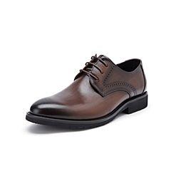 Belle/百麗婚鞋2019秋季新款牛皮革商務正裝男皮鞋10810CM9