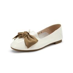 Belle/百麗2019秋新商場同款蝴蝶結漆皮牛皮革女皮鞋3CK20CQ9