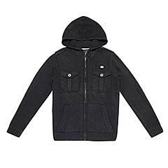 CAT/卡特 专柜同款 男装黑色针织开衫CA3MWLSC025A01