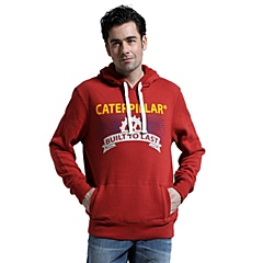CAT/卡特 专柜同款 春季红色户外男套头卫衣CB3MKHOD174W21