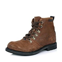 CAT卡特咖色牛皮男士户外休闲低靴P717863D3BDL32传奇复古(LRC)