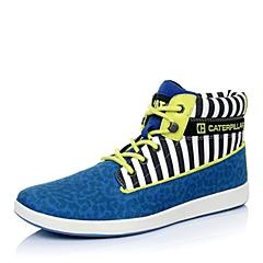 CAT卡特秋冬蓝色合成革男士户外休闲低靴P718024D3MDC70潮流密码(CODE)