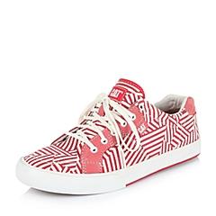 CAT/卡特专柜同款秋冬红色印花女子织物/牛皮休闲鞋潮流密码(CODE)P308165