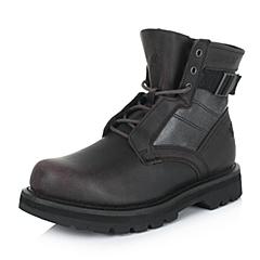 CAT/卡特专柜同款秋冬深咖色男子牛皮/织物休闲靴粗犷装备(Rugged)P718879