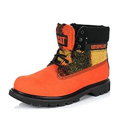 CAT/卡特专柜同款秋冬橙色男子织物/牛皮休闲靴粗犷装备(Rugged)P718913