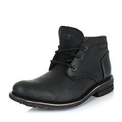 CAT/卡特专柜同款秋黑色男子牛皮/织物休闲靴传奇复古(Legendary Raw)P719094