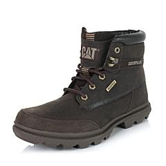 CAT/卡特专柜同款秋冬咖色男子牛皮休闲靴粗犷装备(Rugged)P719114