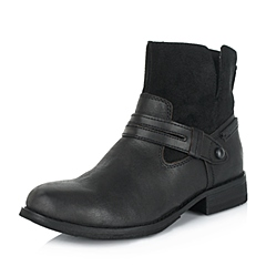 CAT/卡特专柜同款秋冬黑色女子牛皮休闲靴粗犷装备(Rugged)P307427
