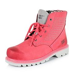 CAT/卡特专柜同款秋冬西瓜红女子牛皮/织物休闲靴粗犷装备(Rugged)P307955