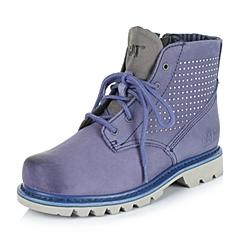 CAT/卡特专柜同款秋冬紫色女子牛皮/织物休闲靴粗犷装备(Rugged)P307955