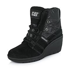CAT/卡特专柜同款秋冬黑色女子牛皮/织物休闲靴活跃装备(Active)P308003