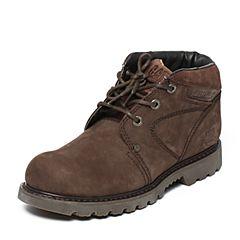 CAT/卡特秋冬 深咖牛皮男士户外休闲鞋粗犷装备(Rugged)P721425F3EDR35
