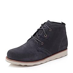 CAT/卡特秋冬 专柜同款深蓝色牛剖层男士户外休闲鞋粗犷装备(Rugged)P714236F3EDR71