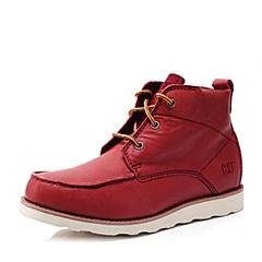CAT/卡特秋冬 专柜同款酒红色牛皮男士户外休闲鞋粗犷装备(Rugged)P713598F3EDR25