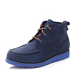 CAT/卡特秋冬 专柜同款深蓝色牛皮男士户外休闲鞋粗犷装备(Rugged)P713598F3EDR25