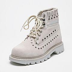 CAT/卡特秋冬灰白色牛皮女士户外休闲鞋粗犷装备(Rugged)P308883F3CDR09
