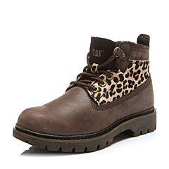 CAT/卡特秋冬浅棕色牛皮女士户外休闲鞋粗犷装备(Rugged)P308975F3BDR39
