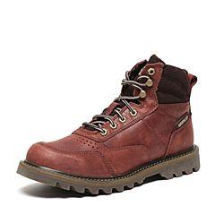 CAT/卡特秋季专柜同款红棕色牛皮/织物男户外休闲鞋粗犷装备P720444F3BDR43