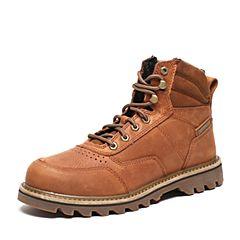 CAT/卡特秋季专柜同款棕色牛皮/织物男户外休闲鞋粗犷装备P720445F3BDR36