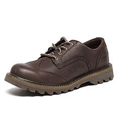 CAT/卡特秋季专柜同款深咖色牛皮/织物男户外休闲鞋粗犷装备P720570F3BMR39