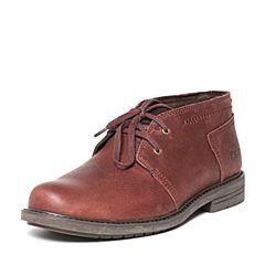 CAT/卡特秋季专柜同款红棕色牛皮/织物男户外休闲鞋粗犷装备P720595F3UMR43