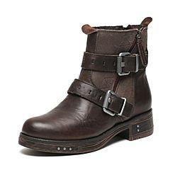 CAT/卡特秋季专柜同款深褐色牛皮女户外休闲鞋粗犷装备P309001F3UDR17