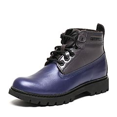 CAT/卡特秋季专柜同款亮蓝/银色牛皮女户外休闲鞋粗犷装备P308973F3BDR75