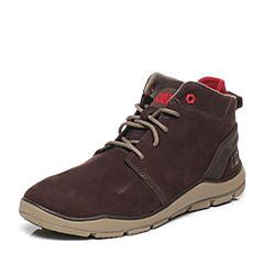 CAT/卡特专柜同款深咖色牛皮/织物男休闲鞋活跃装备(Active)P719721