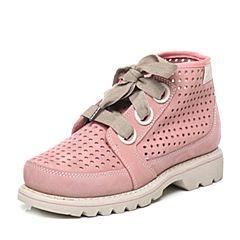 CAT/卡特专柜同款粉色牛皮/织物女休闲鞋粗犷装备(Rugged)P308441