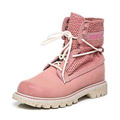 CAT/卡特专柜同款粉色牛皮女休闲鞋粗犷装备(Rugged)P308377