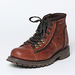 CAT/卡特秋季专柜同款红棕色牛皮/牛剖层革男户外休闲鞋传奇复古P720679F3UDL43