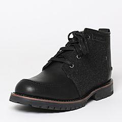 CAT/卡特秋季专柜同款黑色牛皮/织物男户外休闲鞋传奇复古P720564F3UDL09