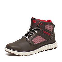 CAT/卡特秋季专柜同款深棕色合成革/织物男户外休闲鞋活跃装备P720500F3FDA17