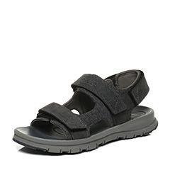CAT/卡特春夏青灰色织物/牛剖层革男户外休闲鞋活跃装备(Active)P719807G2TLA61