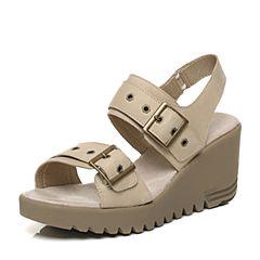 CAT/卡特专柜同款米白色牛皮革女户外休闲鞋粗犷装备(Rugged)P309327G2HLR11
